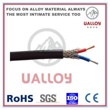 Câble de compensation de thermocouple isolé / tressé de type J PE