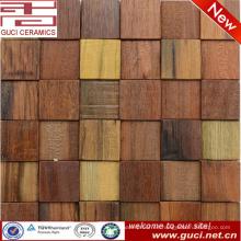 China fabricación de azulejos de pared para el diseño de la casa de mosaico de madera