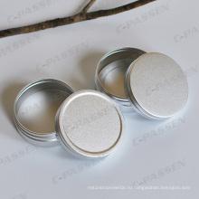 Высокая-Конец Оксидированного Серебра Косметика Крем Банку