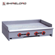 Contador / Stand comercial Placa plana de aço inoxidável grelhador à grelha a gás