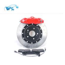 Peças de carro de corrida de alumínio vermelho auto para honda civci 17rim WT9200 quatro pistões kit de freio