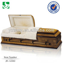 American style casket cremation