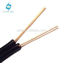Drop Wires 2 Core BC / CCA / CCS Cat3 10 Paires Copper Telephone Cable