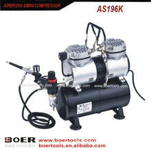 Airbrush Compressor Kit com tanque de 3.5L compõem mini bomba