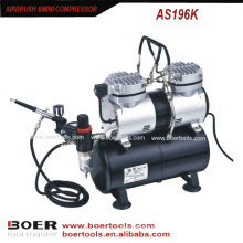 Аэрограф компрессор комплект с 3,5-литровым резервуаром составляют мини-насос