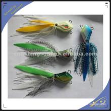 RJL008 caoutchouc en plastique jig appâts de pêche