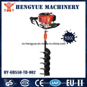 Máquina taladradora de tierra de gasolina de 52 cc