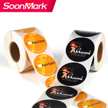 Étiquettes adhésives d'emballage personnalisé impression autocollant d'étanchéité