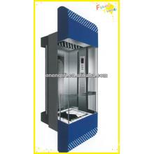 Residencial e comercial elevador panorâmico com máquina sem sala