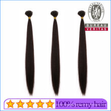 100% Natural Brazilian Virgin Human Hair Extensions Factory Price U-Tip Hair Remy Hair Grade with SGS Approval