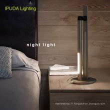 La batterie rechargeable d'éclairage d'IPUDA a mené la lampe d'éclairage de nuit pour les lampes de chevet à la maison
