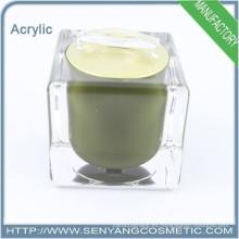 Tarro de cristal plástico cosmético embalaje cosmético tarro de crema