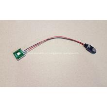 Led módulo de piscar para exibição pop, pisca-pisca led, luz do botão, única luz com plugue do suporte da bateria