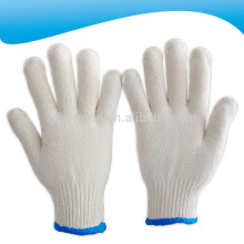 10 gauge bleached white cotton knitted working gloves 600 grams