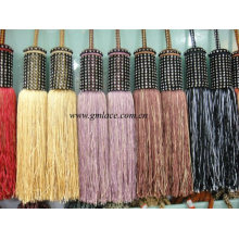 drill type hanging ball tieback tassel