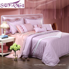 Alibaba China Suppiler 4 Pics Daisy Bedding Set Long Stapled Cotton Satin Fabric Bedding ,Queen Size Bedding Set