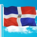 Wholesales 100% Polyester Dominicana National Banner Flags