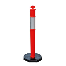 1100*95mm T-top PE plastic traffic warning post