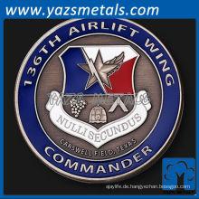 fertigen Metallmünze, 136th Luftbrücke Flügel Kommandeur Münze
