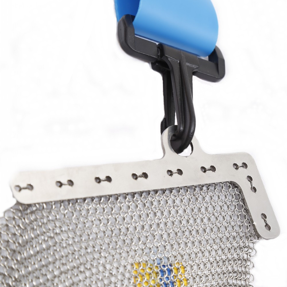 chain mail apron with adjustable strap