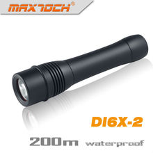 Maxtoch DI6X-2 impermeable linterna LED buceo T6