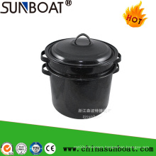Sunboat 7qt Enamel Funnel Stock Pot /Enamel Stew Pot
