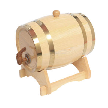 5L Oak Barrels Wooden Barrel Wine Barrels for Storage Aging Wine Whiskey Spirits