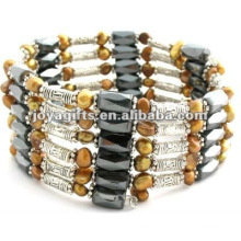 Magnetic Gold Pearl Beaded wrap Bracelets & Necklace 36""