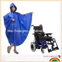 100% eva rain poncho for disabled only