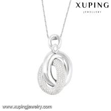 32131- luxury women jewelry sterling silver color buckle pendant
