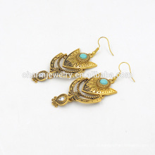 Top Selling Trending böhmischen Stil Vintage Turquoise Anhänger Ohrringe für Frau SSEH017