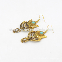 Top Selling Trending Bohemian Style Vintage Turquoise Pendant Earrings For Woman SSEH017
