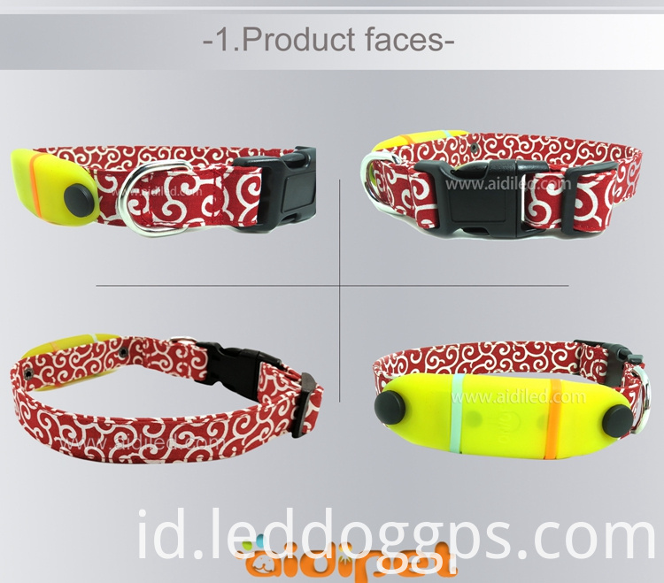 Nylon Lighted-Up Dog Collar