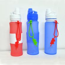 500 мл силиконовые складной бутылки с водой