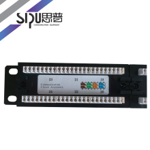 SIPU high quality patch panel 24 port 48 port cat5e cat6 cable panel