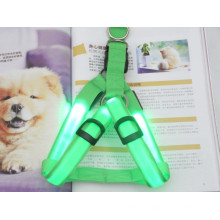 Green pet collar making supplies led dog harness