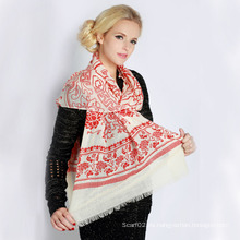 Bufanda de lana impresa (12-BR300302-11.1)
