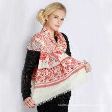 Echarpe imprimée en laine (12-BR300302-11.1)