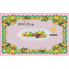 Diseño independiente LFGB Patrón Impreso Mantel Transparente 80 * 130cm