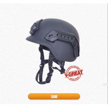 Pastel de capacete à prova de balas com trilhos laterais e Shraud
