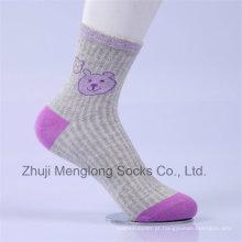 Desenhos animados da menina desenhos animados linda menina meias de algodão