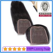 Top High Quality 10A Brazilian Hair Toupee Hair Weft Human Hair Closure