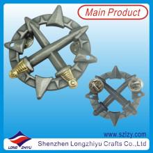Morre o emblema militar liga de zinco do emblema 3D da espada da carcaça (LZY-100051)