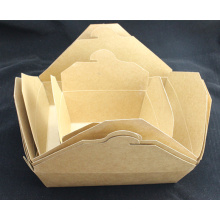 Diseño de caja de fideos de papel Caja de papel de Fried Chicken Kraft