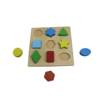 Hot Christmas Gift Wooden Shape Block Puzzle for Kids and Children