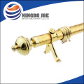 Paint Golden Leaf Finial Single Curtain Rod And Hardware Kit