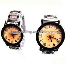 Relojes de acero inoxidable estilo tradicional estilo reloj de regalo conjunto