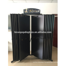 Custom Stone Showroom Rack Large Metal Freestanding Sliding Floor Granite And Marble Tiles Display