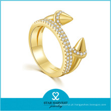 Baixo moq moda feminina acessórios banhado a ouro prata anéis (r-0637)