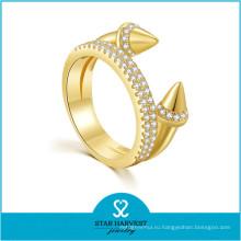 Низкое moq женщины мода аксессуары позолоченные серебряные кольца (Р-0637)
